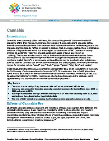 Cannabis (Canadian Drug Summary)