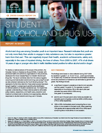 Cross-Canada Report on Student Alcohol and Drug Use (Report in Short)