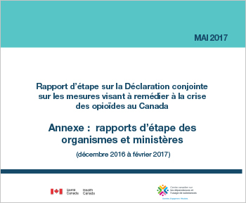 Rapport d'étape sur la Déclaration conjointe sur les mesures visant à remédier à la crise des opioïdes au Canada : annexe (mai 2017)