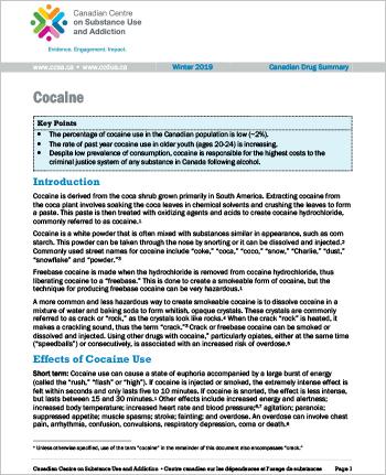 Cocaine (Canadian Drug Summary)
