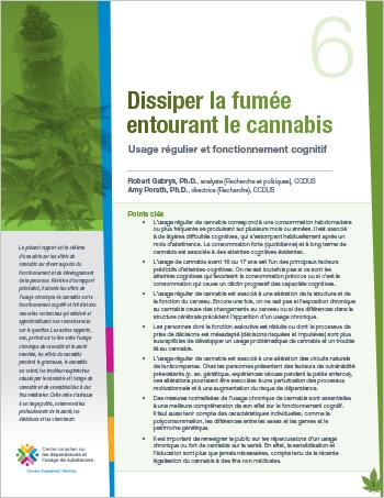 Dissiper la fumée entourant le cannabis : Usage régulier et fonctionnement cognitif