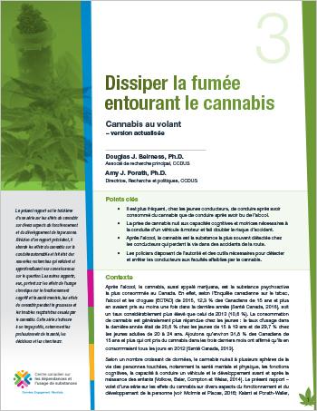 Dissiper la fumée entourant le cannabis : Cannabis au volant – version actualisée