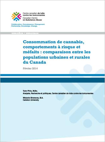 Consommation de cannabis, comportements à risque et méfaits : Comparaison entre les populations urbaines et rurales du Canada