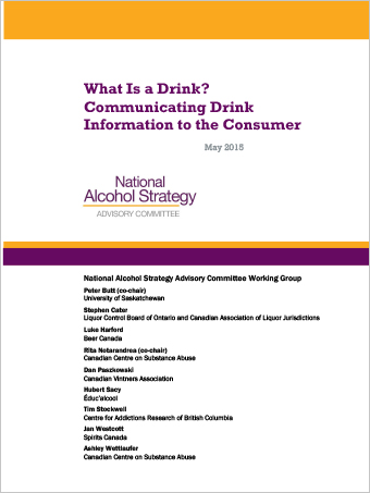 What Is a Drink? Communicating Drink Information to the Consumer