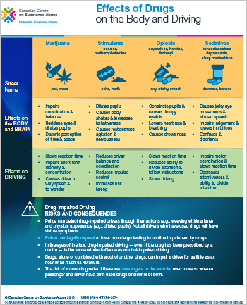 Effects of Drugs on the Body and Driving [handout]
