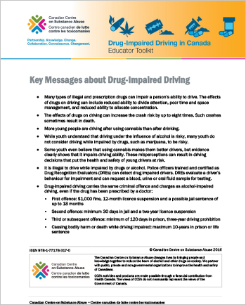 Key Messages about Drug-Impaired Driving