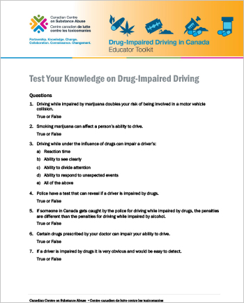 Test Your Knowledge on Drug-Impaired Driving