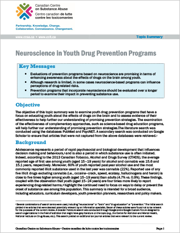 Neuroscience in Youth Drug Prevention Programs (Topic Summary)