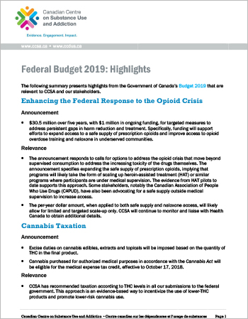 Federal Budget 2019: Highlights