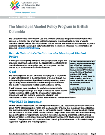 The Municipal Alcohol Policy Program in British Columbia