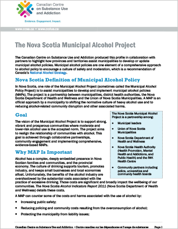 The Nova Scotia Municipal Alcohol Project