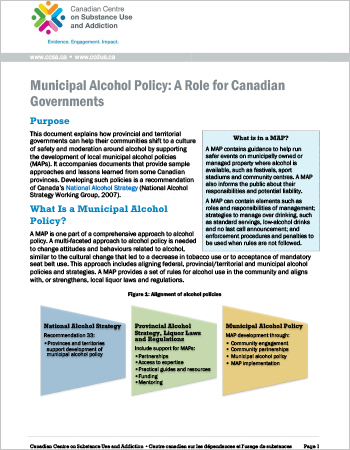 Municipal Alcohol Policy: A Role for Canadian Governments