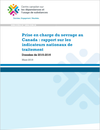 Prise en charge du sevrage au Canada : rapport sur les indicateurs nationaux de traitement (Données de 2015-2016)