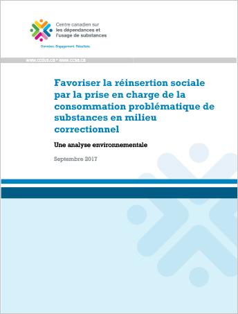 Favoriser la réinsertion sociale par la prise en charge de la consommation problématique de substances en milieu correctionnel : une analyse environnemental