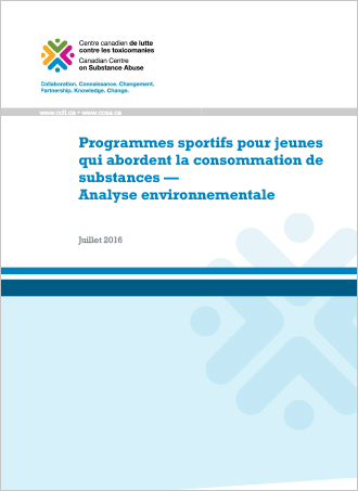 Programmes sportifs pour jeunes qui abordent la consommation de substances — Analyse environnementale