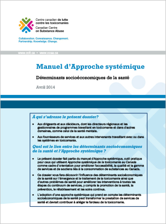 Manuel d'Approche systémique : Déterminants socioéconomiques de la santé