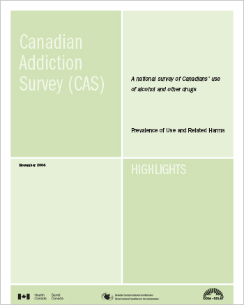 Canadian Addiction Survey (CAS): A National Survey of Canadians Use of Alcohol and Other Drugs: Prevalence of Use and Related Harms: Highlights