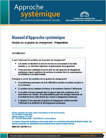 Manuel d'Approche systémique : Module sur la gestion du changement : Préparation