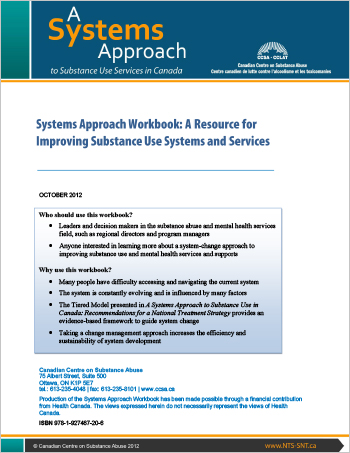Systems Approach Workbook: A Resource for Improving Substance Use Systems and Services