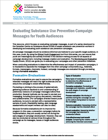 Evaluating Substance Use Prevention Campaign Messages for Youth Audiences