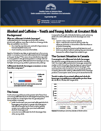Alcohol and Caffeine – Youth and Young Adults at Greatest Risk