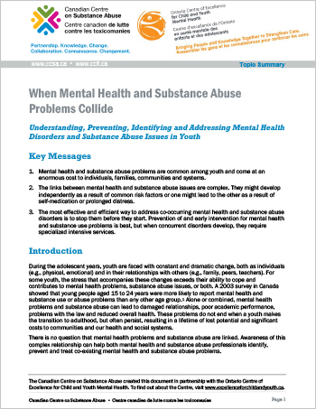When Mental Health and Substance Abuse Problems Collide (Topic Summary)
