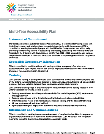 Multi-Year Accessibility Plan