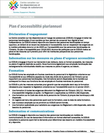 Plan d'accessibilité pluriannuel
