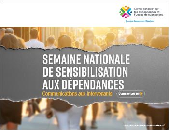 Semaine nationale de sensibilisation aux dépendances : communications aux intervenant
