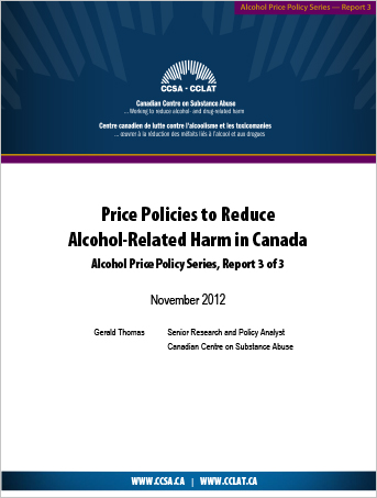 Levels and Patterns of Alcohol Use in Canada (Alcohol Price Policy Series)