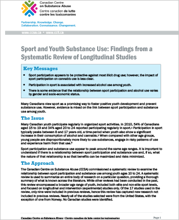 Sport and Youth Substance Use: Findings from a Systematic Review of Longitudinal Studies