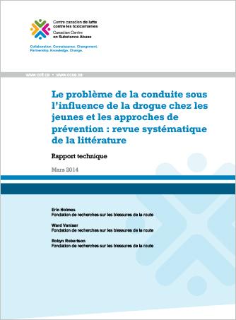 Le problème de la conduite sous l'influence de la drogue chez les jeunes et les approches de prévention : Revue systématique de la littérature