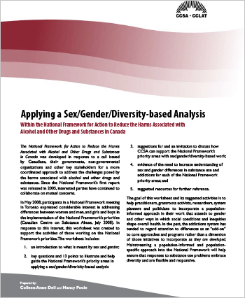 Applying a Sex/Gender/Diversity-based Analysis within the