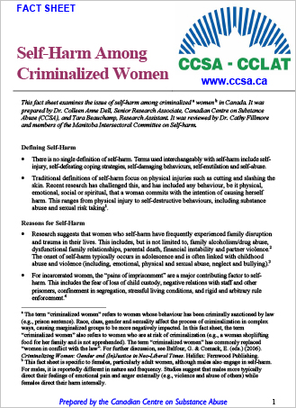 Self-Harm Among Criminalized Women