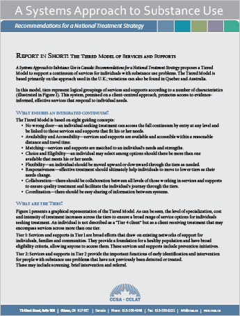 Report in Short: TheTiered Model of Services and Supports