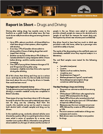 Report in Short – Drugs and Driving