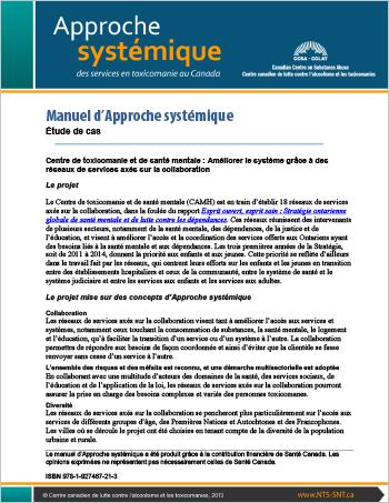Manuel d'Approche systémique : Étude de cas : Centre de toxicomanie et de santé mentale : Améliorer le système grâce à des réseaux de services axés sur la collaboration