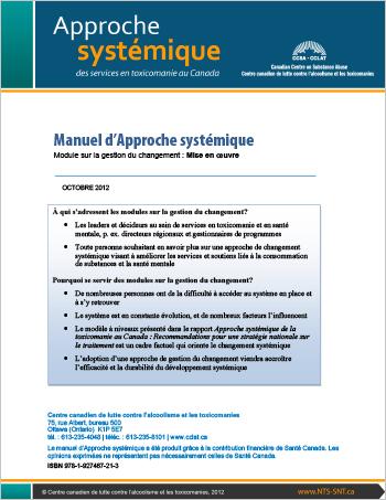 Manuel d'Approche systémique : Module sur la gestion du changement : Mise en oeuvre