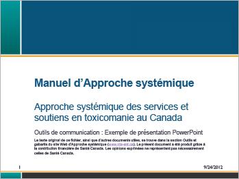 Manuel d'Approche systémique [présentation]