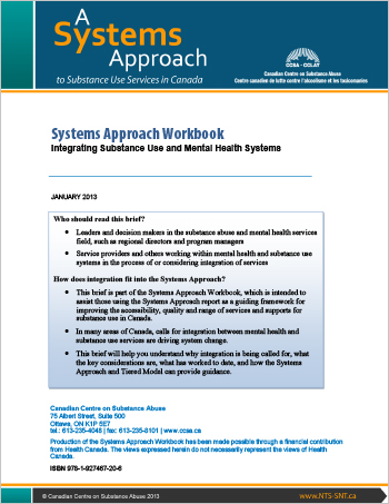 Systems Approach Workbook: Integrating Substance Use and Mental Health Systems