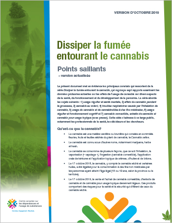 Dissiper la fumée entourant le cannabis : points saillants — version actualisée