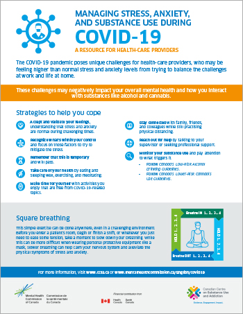 Managing Stress, Anxiety And Substance Use During Covid-19: A Resource For Healthcare Providers [infographic]