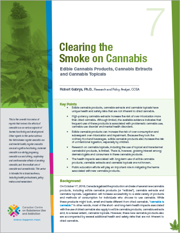 Clearing the Smoke on Cannabis: Edible Cannabis, Cannabis Extracts and Cannabis Topicals
