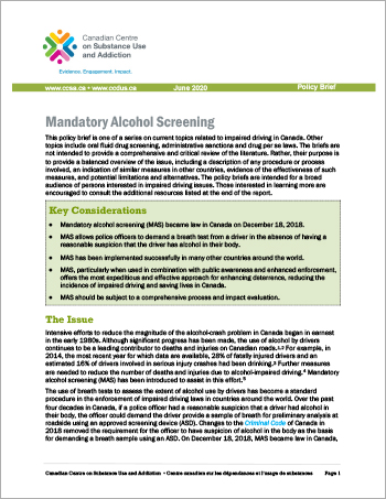 Mandatory Alcohol Screening [Policy Brief]