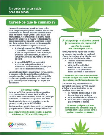 Un guide sur le cannabis pour les aînés