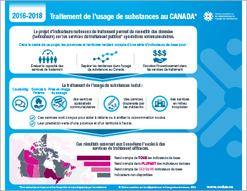 Traitement de l'usage de substances au Canada en 2016–2018 [infographie]