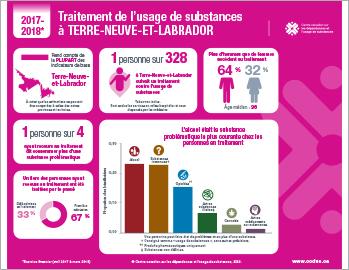 Traitement de l'usage de substances à Terre-Neuve-et-Labrador en 2017–2018