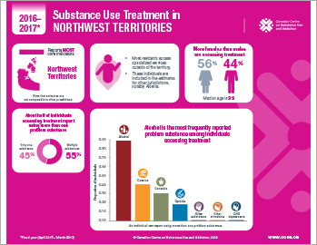 Substance Use Treatment in the Northwest Territories 2016–2017 [infographic]
