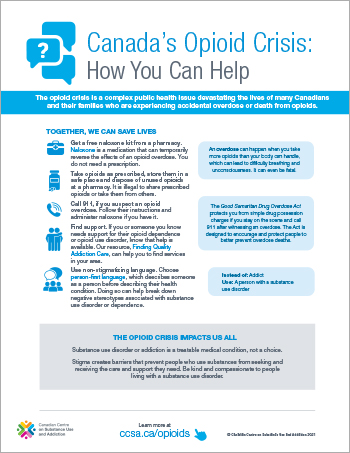 Canada's Opioid Crisis: How You Can Help [poster]