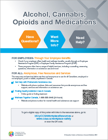 Alcohol, Cannabis, Opioids and Medications [links to resources]